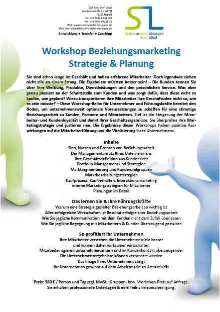 Beziehungsmarketing Strategie und Planung
