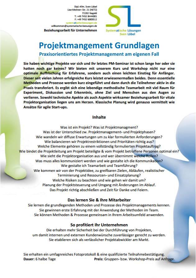 Projektmanagement Grundlagen - SL Beziehungsarbeit